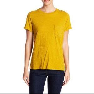 NWT Madewell Golden Yellow pocket t-shirt